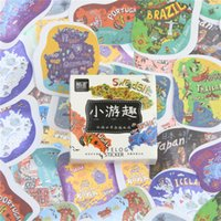 Atacado- 45 Pcs / lot Travel The World Mini Decoração de papel adesivo DIY Ablum Diary Scrapbooking Label Sticker