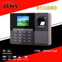 Wholesale Time Clock Machine Fingerprint - Wholesale- Biometric Fingerprint Attendance Time Clock + ID Card Reader + USB Recorder Employee Electronic Standalone Punch Reader Machine