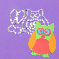 Wholesale Paint Templates - Owl Cutting Dies Stencils Template for DIY Scrapbooking Card Photo Album Painting Embossing Decor Metal Crafts