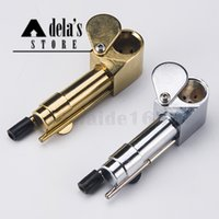 Brass Proto Smoking Pipe Metal 3,9 pouces Tubes portables Golden Color China Direct Ultimate Tool Huile de tabac Herb Hidden Bowl DHL 033