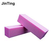Discount nails files - Wholesale- Free shipping 2pcs lot colorful Nail Art sanding Buffing Block Nail File