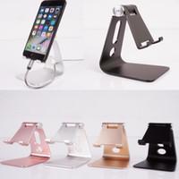 Wholesale Apple Desk Light - Adjustable Aluminum Metal Mobile Phone Tablet Desk Holder Stand for iPhone Samsung Cellphone Desk Stand For iPad iPhone Holder