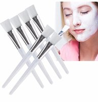 Wholesale Used Wood Tools - DIY Facial Mask Brush Kit Makeup Brushes Eyes Face Skin Care Masks Applicator Cosmetics Home Facial Eye Mask Use Tools Clear Handle