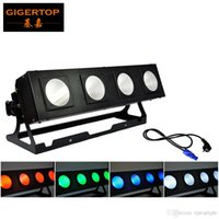 Wholesale Led Reflectors Bar - TIPTOP COB LED BAR 4 Eye Stage Led Audience Wall Washer Light 4x40W High Power 4IN1 Lamp Reflector Cup Multi Angle Adjustable