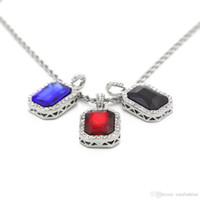Wholesale Ruby Diamond Pendant Gold - Mini octagonal set auger small pendant mini ruby boutique hip-hop men's diamond necklace Chokers Necklace Chokers Necklaces