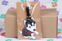 Wholesale Husky Toys - Wholesale-1pcs Husky bag Pendant Travel Name Tag Novelty toys