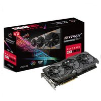 Wholesale Ati 256bit - ASUS ROG-STRIX-RX580-T8G-GAMING 8GB Graphic Card 8000MHZ 256Bit Support HDCP PCI Express 3.0 rx 580 PK rx 570