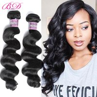 Wholesale Chinese Processed Remy Hair - BD Loose Wave Human Hair Extensions Remy Hair Bundles Within Different Hair Inch 3 4 Bundles