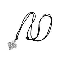 Wholesale Knot Necklace Black - Fashion Gift Irish Knot Abstract Wit Owl Necklace Black Single Thread Stainless Steel Necklace