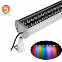 Wholesale Hours Wall - Best 36W LED RGB wall washer lamp RGB Floodlight AC 24V 85-265V 1000mm 50000 hours life 3 years warranty