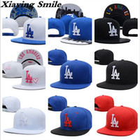 Wholesale La Dodgers Hats - Brand LA Snapback Adjustable Caps Outdoor Hip Hop Hats Sports fitted Snap Back Cap Baseball Hats Wholesale Men Women LA Embroidery Dodgers