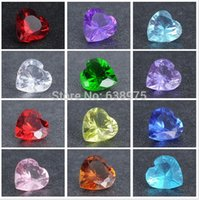 Venta al por mayor-12 Mix-color 120pcs 5mm Heart Birthstone encantos flotantes para vitrina de cristal