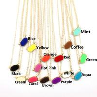 geometrische kostüme großhandel-Heißer Verkauf Klassischen Goldrahmen Mini Oval Shaped Halskette Frauen Modeschmuck Leopard Mini Geometrische Hexagon Anhänger Kurze Halsreifen