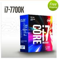 Wholesale Intel I7 Desktop - New BOX intel core i7-7700K 7700K Quad-core threads 8 4.2G 91W LGA 1151 Supported DDR3L-1333, DDR3L-1600, DDR4-2133,