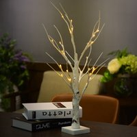 Wholesale Waterproof Desk - 0.6M 2.0FT 24 LEDs Battery Operated Desk Top Silver Birch Twig Tree Light White Branches Home Party Wedding Indoor Outdoor Decoration