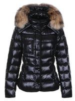 Wholesale thin fur coat - classic 2017 winter women's brand designer down jackets luxury down coats plus size women's jackets warm winter clothing black