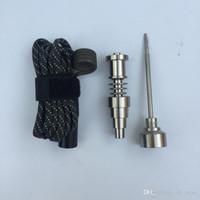 Wholesale Hookah Heater - Domeless Gr2 Titanium Nail 16mm 20mm Enail coil Heater Titanium Carb Cap male female for Dnail WAX Vaporizer Glass hong hookah