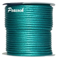 3mm Peacock Green Coreia Poliéster Waxed Wax Cord Thread + Jóias Resultados Bracelet Necklace Wire String Accessories 50yards / roll