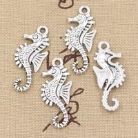 Wholesale Antique Seahorse - Wholesale-99Cents 8pcs Charms hippocampus seahorse 29*12mm Antique Making pendant fit,Vintage Tibetan Silver,DIY bracelet necklace