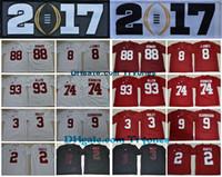 Wholesale Alabama M Football - 2017 Alabama Crimson Tide College Football Jerseys 2 Jalen Hurts 3 Ridley Julio Jones Allen Cam Robinson 9 Bo Scarbrough OJ Howard Jersey