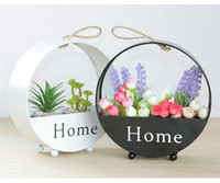 Wholesale Metal Racks Baskets - Storage Holders Organizer Creative Flower basket House Wall Decor Wooden Home Products Sundries Jewelry Box Wall Hanger Decoration wholesale