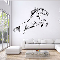 Wholesale Wall Decals Horses - New Cartoon Running Horse Wall Stickers Removable Vinyl Room Decal Art Mural Home Decor free shipping