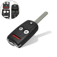 chave para honda venda por atacado-3 Botões Carro Remoto Flip Chave Do Carro Caso Shell Fob Com w / Uncut Lâmina Para Acura para Honda