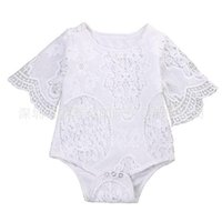 Wholesale hug clothing online - Hug Me Baby Rompers Toddler Girls Clothing Spring Summer Fashion Floral Fly Sleeve Romper FF