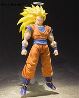 Hazy beauty Dragon Ball Z DBZ SHF Super Sanyan SSJ 3 Goku PVC Action Figure Brinquedos Модель Куклы Игрушки