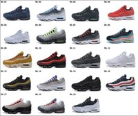 Wholesale Pull Boots - Men Running Shoes Air Cushion 95 Men Retro 95 OG Cushion Navy Sport Air High-Quality Chaussure 95s Walking Boots Sneakers Size 40-46