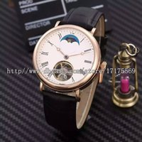 Wholesale Machinery Import - New Fashion retro classic high-end precision machinery import automatic moon Tourbillon scale back through the Rome men's watch belt