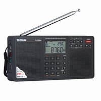Wholesale Digital Stereo Receivers - Wholesale-Tecsun PL-398MP 2.2'' Full Band Digital Tuning Stereo Radio Receiver DSP radio FM SW MW LW with Stand and MP3 Player