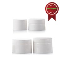Wholesale Cosmetic Jars White - 20pcs lot 30g PP Plastic Glossy White Cream Mask Jars Empty Cosmetic Packaging Containers Wholesale PJ1