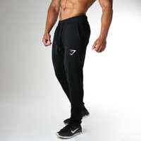 Wholesale Mens Bootcut Casual Pants - Wholesale- 2016 New Gymshark Mens Sweatpants Pants male Casual fashion trouser Fitness drawers Brand men's trousers Bodybuilding