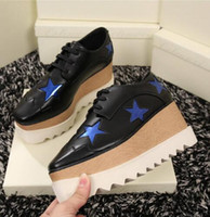Kendall di cuneo singoli appartamenti calza elyse pattini STAR PIATTAFORMA Metallic pattini superstar donne derbys Sneakers piattaforma sterne