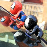 Wholesale Spiderman Window Sucker - 16CM for Spider Man Toy Climbing Spiderman Window Sucker for Spider-Man Doll Car Home Interior Decoration 2 color