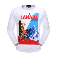 Wholesale Sell Lantern - 2018 Autumn New Arrived Hot Sell Men's DSQ2 Pullover Length Sleeve Hoodies Sweatshirts D2 Jacket Print Hoody Sportwear Outwear jacket