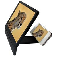 telefone móvel dobrável venda por atacado-Wholesale-Foldable Portable Mobile Phone Screen Magnifier HD Expander Stand Holder para SmartPhone