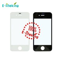 Wholesale Digitizer Iphone Tool White - Black White Outer Front Screen Cover Glass Lens Replacement Touch Screen Digitizer Glass For iPhone 4 4G+TOOLS+3M Sticker+Film