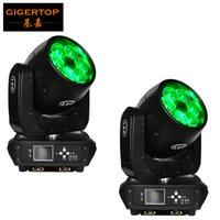 ingrosso controllore dello zoom-TIPTOP 2XLot TP-L672 6x40W RGBW 4in1 Mini Bee Eye Zoom Testine mobili Controller DMX Luci DJ Teste mobili Display LCD
