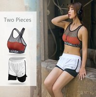 Wholesale Dry Suits For Women - The summer new speed dry fitness suit is a two-piece yoga suit for running and anti-shock bra