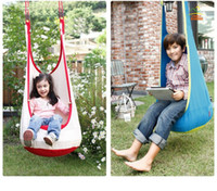 Wholesale Swing Child Chair - Wholesale- Baby Swing Sleeping Bag Children Pod Hammock Kids Indoor Outdoor Hanging Chair Adult Cotton Hanging Nest With Inflatable Cushion