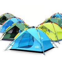 Wholesale Blue Hydraulics - Original Hewolf 3-4 Persons Outdoor Camping Tent Hiking Beach Tent Tourist Bedroom Travel Hydraulic Tent 2017 New Arrival 2527002