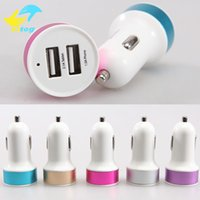 Wholesale high quality usb car charger - Double USB car charger 2A High quality car chargers For Iphone6 6plus Samung s6 S7 edge