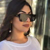 Wholesale chic lady - Flat Top Square Sunglasses Women Chic Brand Designer Luxury Sunglasses Lady Summer Style Fashion Sun Glasses Female Rimless Shades UV400