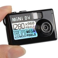Wholesale Function Small Videos - New Design Digital Video Camera Smallest Mini DV With Powerful Functions Mini Spy Camcorder Supports Micro SD Card A0071