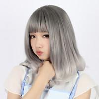 pelo largo perruque natural al por mayor-Pelucas Perruque pelucas Perruque peluca Lolita peluca de cabello liso largo y mediano para las mujeres