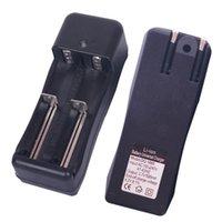neue wandladegeräte großhandel-Neue Universal 18650 Ladegerät Dual Slot Ladegeräte US-Stecker Großhandel USB-Lade für wiederaufladbare Li-Ion-Batterie 14500 18350 26650