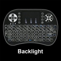 Wholesale Laptop Battery Box - RII I8 Backlight 2.4GHz Wireless Mini Keyboard Air Mouse Touchpad for S905X S912 A95X Android TV BOX Laptop Raspberry Backlit with Battery