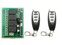 Wholesale 4ch Remote Control Transmitter - Wholesale- DC12V 4CH Remote Control Switch Automatic Door Operators Receiver 2 Transmitter Learning code Momentary Toggle Latched 315MHZ